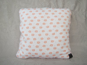 Cotton Pillow - Pink Elephant