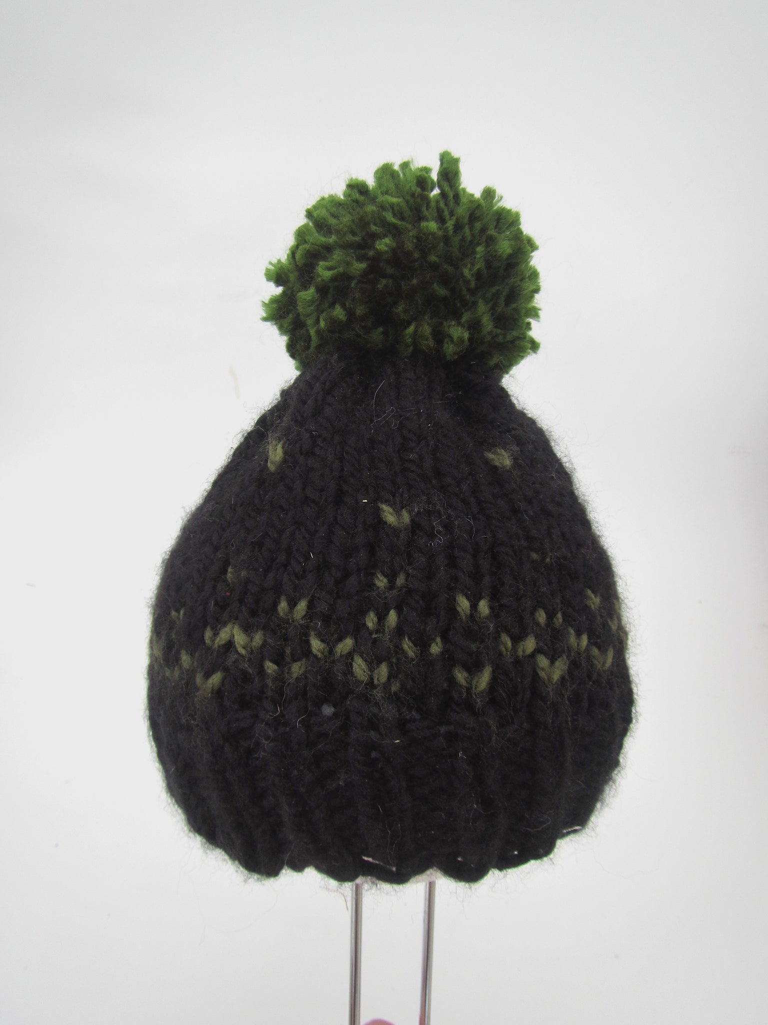 Green   Black Toque With Pom Pom - Baby – Urban Wheel 05e287abbd6