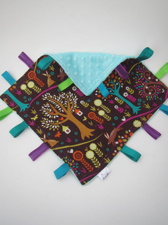Forest Animal & Blue Taggy Blanket