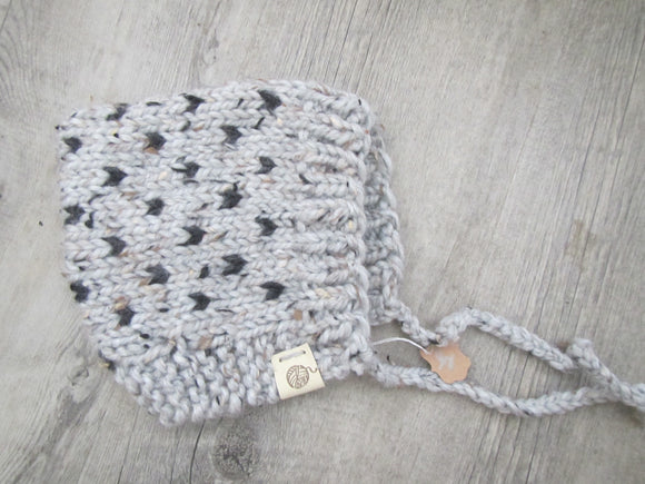 Grey & Charcoal Pixie Hat