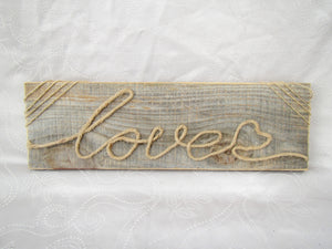 Jute Rope Art - Love