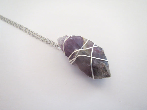 Wire Wrapped A23 Raw Necklace #7