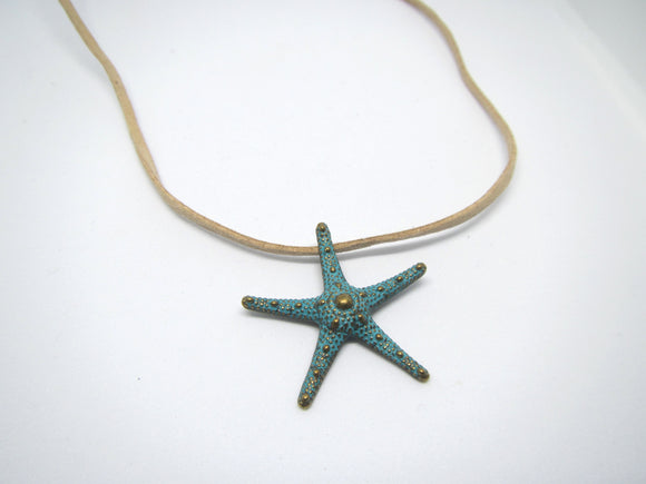 Starfish Leather Necklace