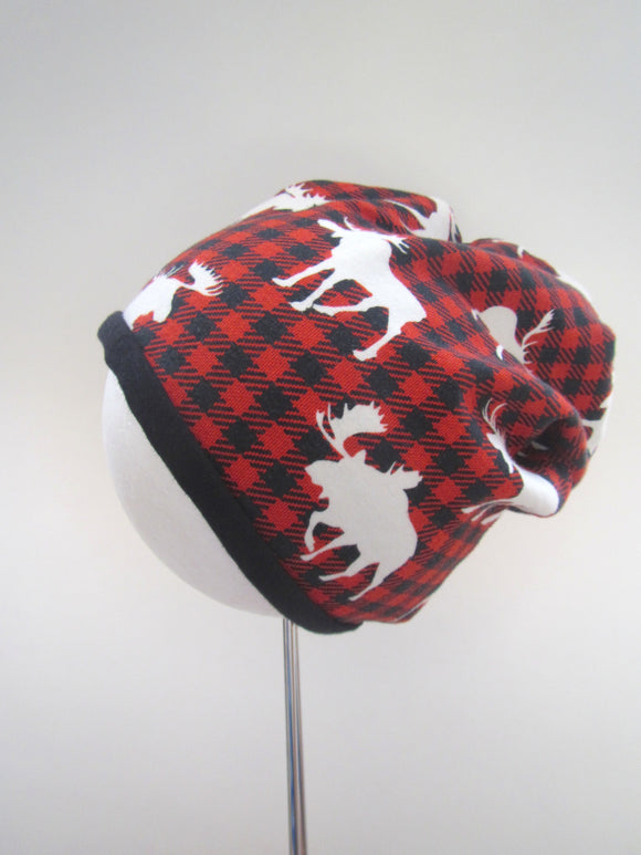 3T Buffalo Plaid Beanie