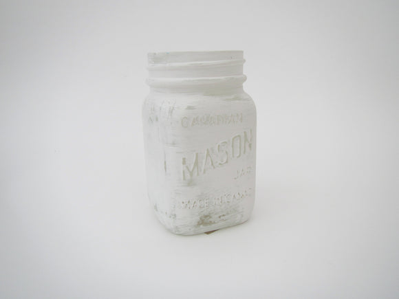 Small White Mason Jar