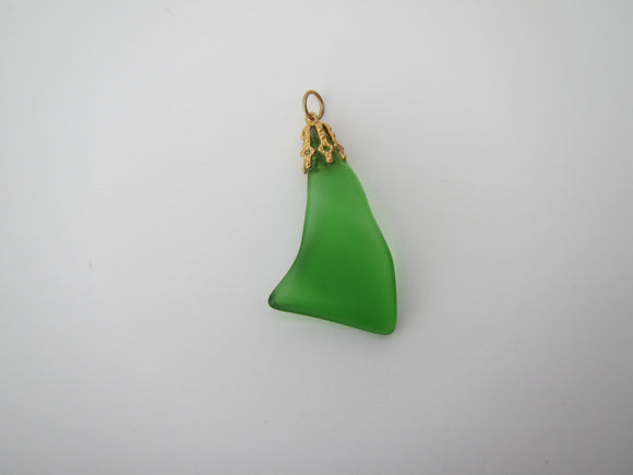 Green Beach Glass Pendent