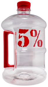 Rich Piana 5% Nutrition 1/2 Gallon Jug