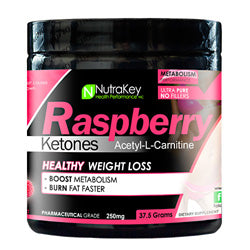 NutraKey Raspberry Ketones + L-Carnitine Powder 150 Servings