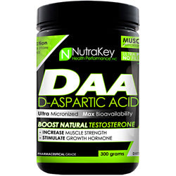 NutraKey D-Aspartic Acid 300 g 100 Servings