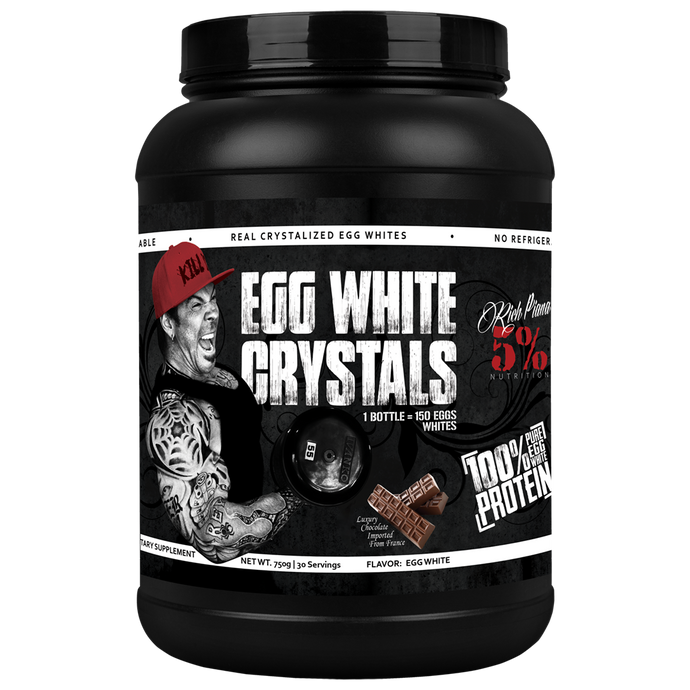 Rich Piana 5% Nutrition Egg White Crystals - Blow Out - Out of Date NO RETURNS