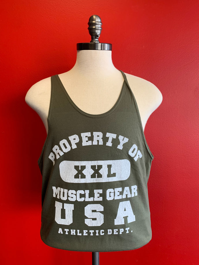MG PROPERTY OF STRINGER  TANK - OLIVE GREEN