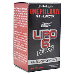 Nutrex Lipo 6 Black Ultra Concentrate, 60 Capsules