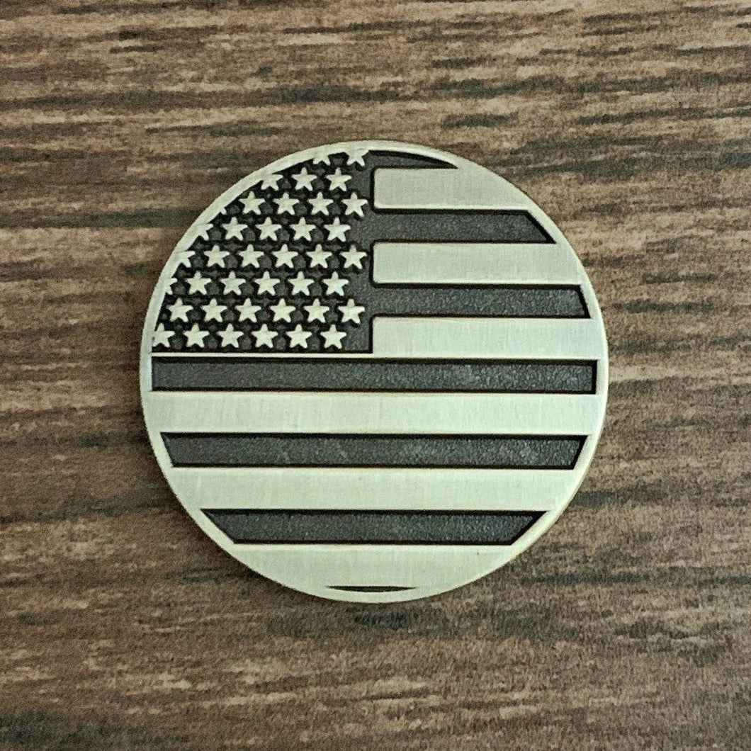 American Flag Magnetic Golf Ball Marker | Brass