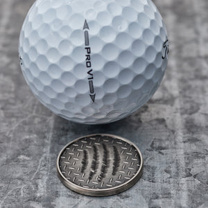 Scratch Magnetic Golf Ball Marker | Nickel