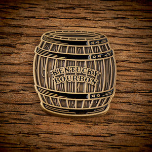 Bourbon Barrel Magnetic Golf Ball Marker - Brass