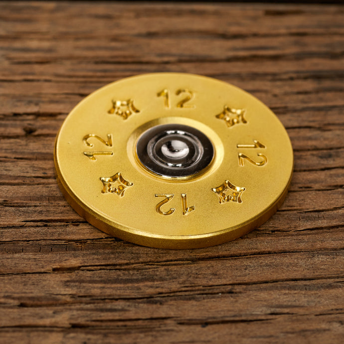12 Gauge Shotgun Shell Magnetic Golf Ball Marker | Full Metal Markers