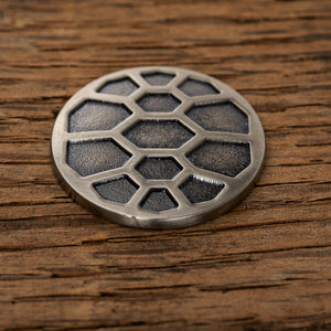 Turtle Shell Magnetic Golf Ball Marker | Nickel | Full Metal Markers