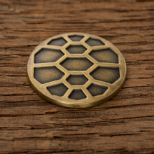Load image into Gallery viewer, Turtle Shell Magnetic Golf Ball Marker | Brass | Full Metal Markers