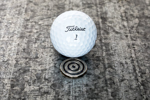 Bullseye Magnetic Golf Ball Marker | Full Metal Markers