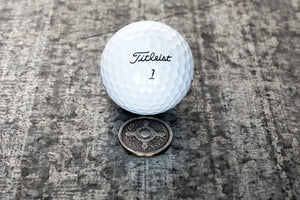 Viking Shield Magnetic Golf Ball Marker | Full Metal Markers