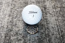 Load image into Gallery viewer, Turtle Shell Magnetic Golf Ball Marker | Nickel | Full Metal Markers