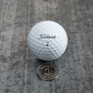 Subway Token Magnetic Golf Ball Marker | Nickel | Full Metal Markers