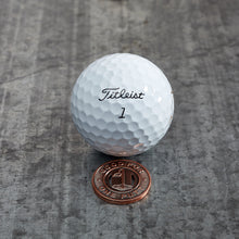 Load image into Gallery viewer, Subway Token Magnetic Golf Ball Marker | Copper | Full Metal Markers