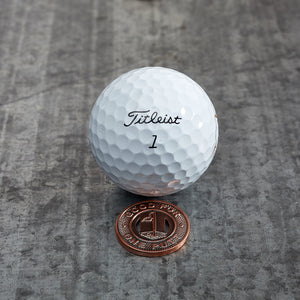 Subway Token Magnetic Golf Ball Marker | Copper | Full Metal Markers
