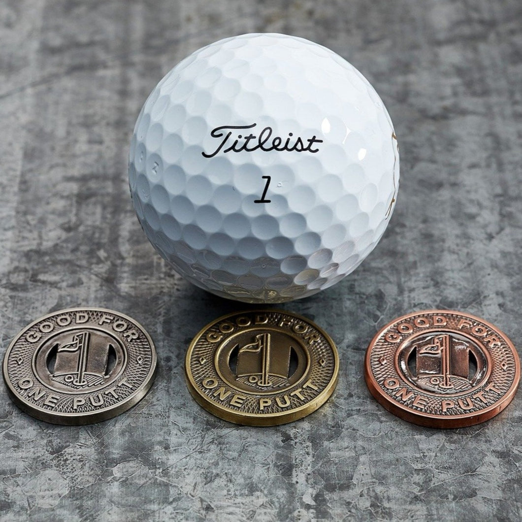 Subway Token Trio Magnetic Golf Ball Markers Set | Full Metal Markers