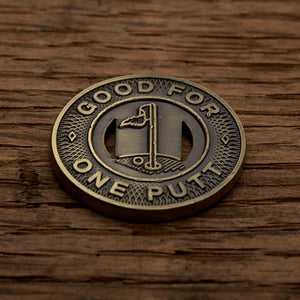 Subway Token Magnetic Golf Ball Marker | Brass | Full Metal Markers