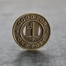 Load image into Gallery viewer, Subway Token Magnetic Golf Ball Marker | Brass | Full Metal Markers