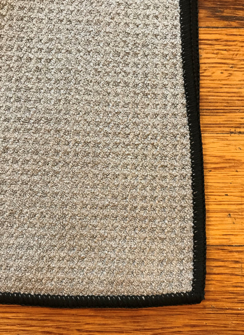 Light Grey Microfiber Waffle Golf Towel | Full Metal Markers