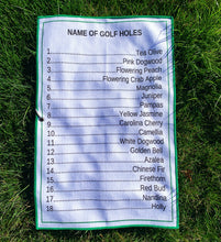 "Load image into Gallery viewer, ""Name of Golf Holes"" Towel"