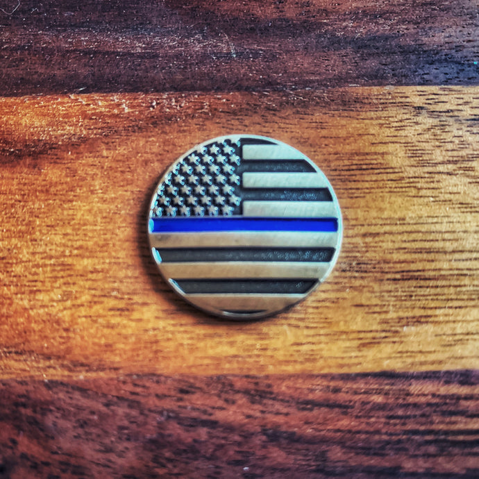Thin Blue Line Magnetic Golf Ball Marker