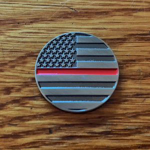 Thin Red Line Magnetic Golf Ball Marker