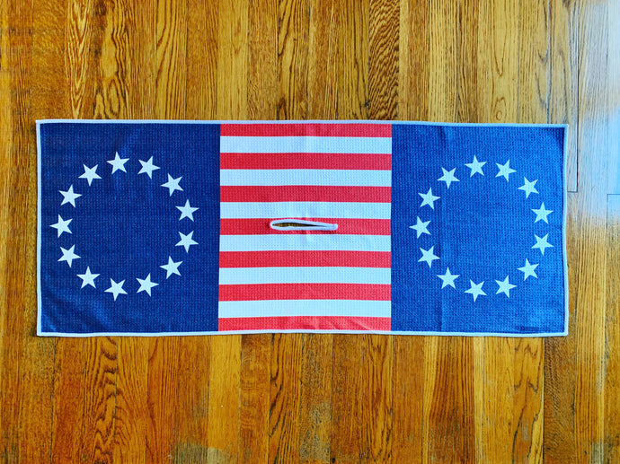 Betsy Ross Microfiber Waffle Weave Golf Towel