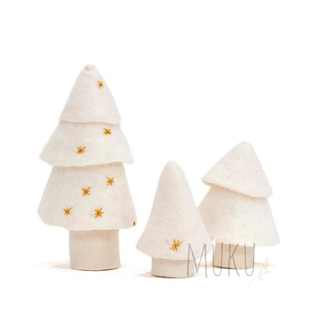 FELT X'MAS TREE (SET OF 3) - xmas