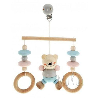 HESS Spielzeug WOODEN BEAR HANGING - wooden toy