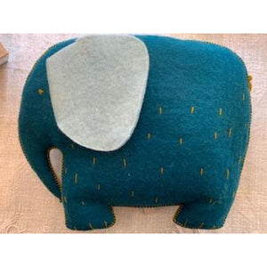 MUSKHANE ELEPHANT FELT CUSHION - soft toy