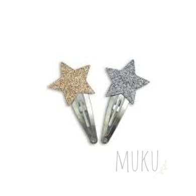 NUMERO 74 GLITTER STAR CLIP SILVER - physical