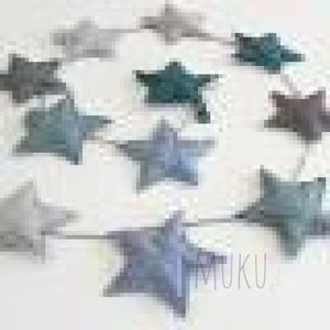 NUMERO 74 MINI PADDED STAR GARLAND - BLUE - physical
