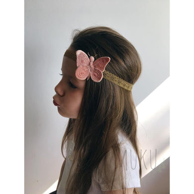 NUMERO 74 VELVET BUTTERFLY HEAD BAND - physical