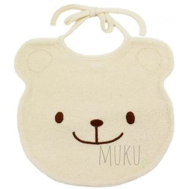 ORGANIC COTTON BEAR BIB - JAPAN PRODUCTS