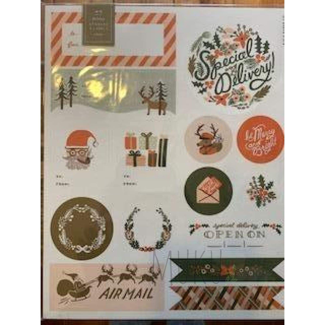 RIFLE PAPER CO. 45 HOLIDAY STICKER & LABELS - physical