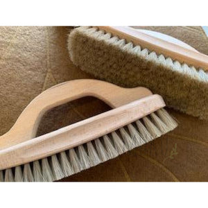 SHOE SHINING BRUSH WITH HANDLE - physical