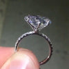 4.00 CT  Heart  Cut Sterling Silver Engagement Ring