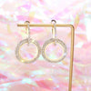 925 Sterling Silver  Geometric Circle  Champagne Gold  Fashion  Earrings