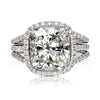 5.2 CT Cushion Cut Lab Created Sapphire Halo Style Wedding Set  in Sterling Silver
