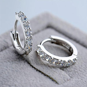 Classic Shining Round Cut  Earrings In 925 Sterling Silver
