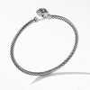 1.5 CT Round Cut Lab Created Purple Sapphire Bangle in Sterling Silver